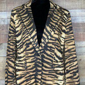 Chico's Tiger Stripe Blazer Jacket Size 1